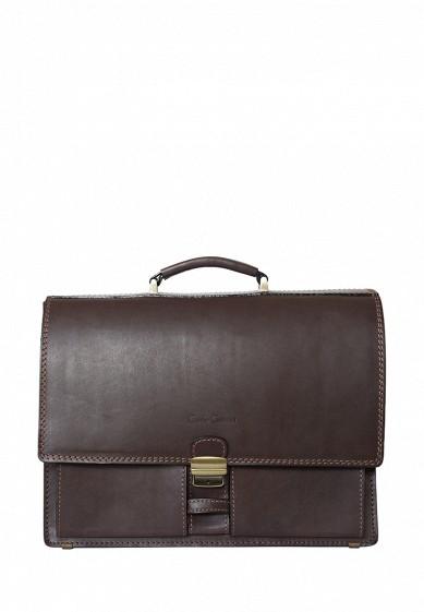 Портфель Luriano Carlo Gattini коричневый MP002XM0W163  - купить со скидкой