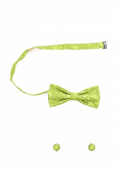Купить Комплект бабочка и запонки ViaVestis зеленый MP002XU00ZNW Россия