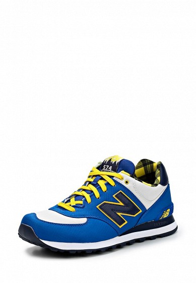 Кроссовки New Balance ML574 синий NE007AMCIR92 Вьетнам  - купить со скидкой