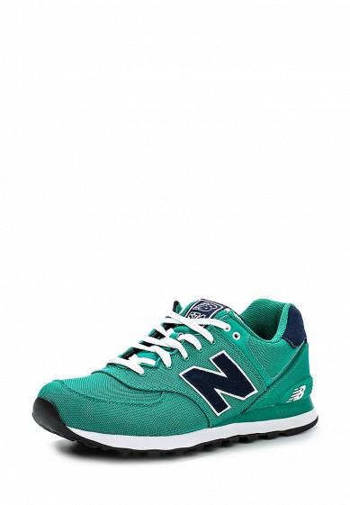 Кроссовки New Balance ML574 зеленый NE007AMDWX39 Вьетнам  - купить со скидкой