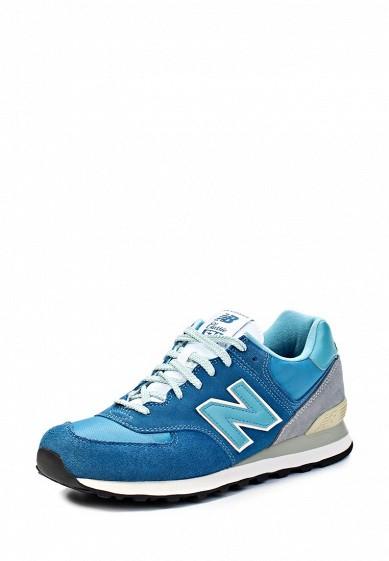 Кроссовки New Balance ML574 синий NE007AMJA773 Вьетнам  - купить со скидкой