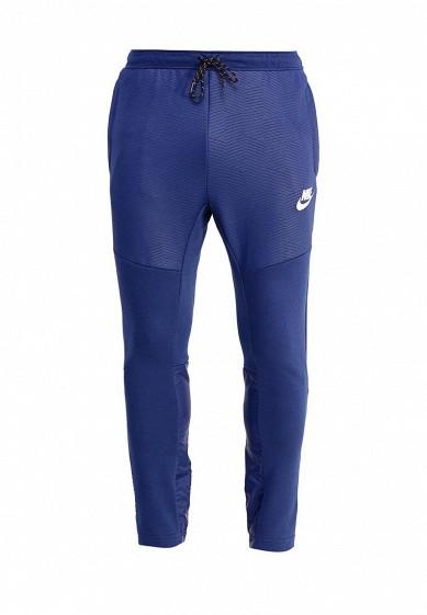 Купить Брюки спортивные Nike M NSW AV15 PANT OH FLC SSNL синий NI464EMUGW35 Малайзия