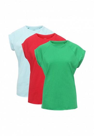 Комплект футболок 3 шт. oodji голубой, зеленый, красный OO001EWSXC82  - купить со скидкой