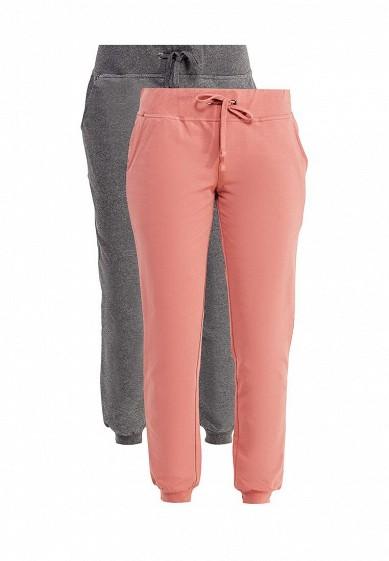 Купить Комплект брюк 2 шт. oodji коралловый, серый OO001EWXJN12 Узбекистан
