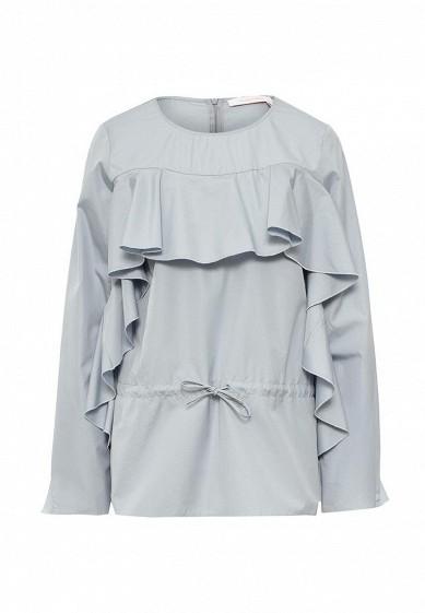 Блуза голубой SE011EWNZO80 Португалия  - купить со скидкой