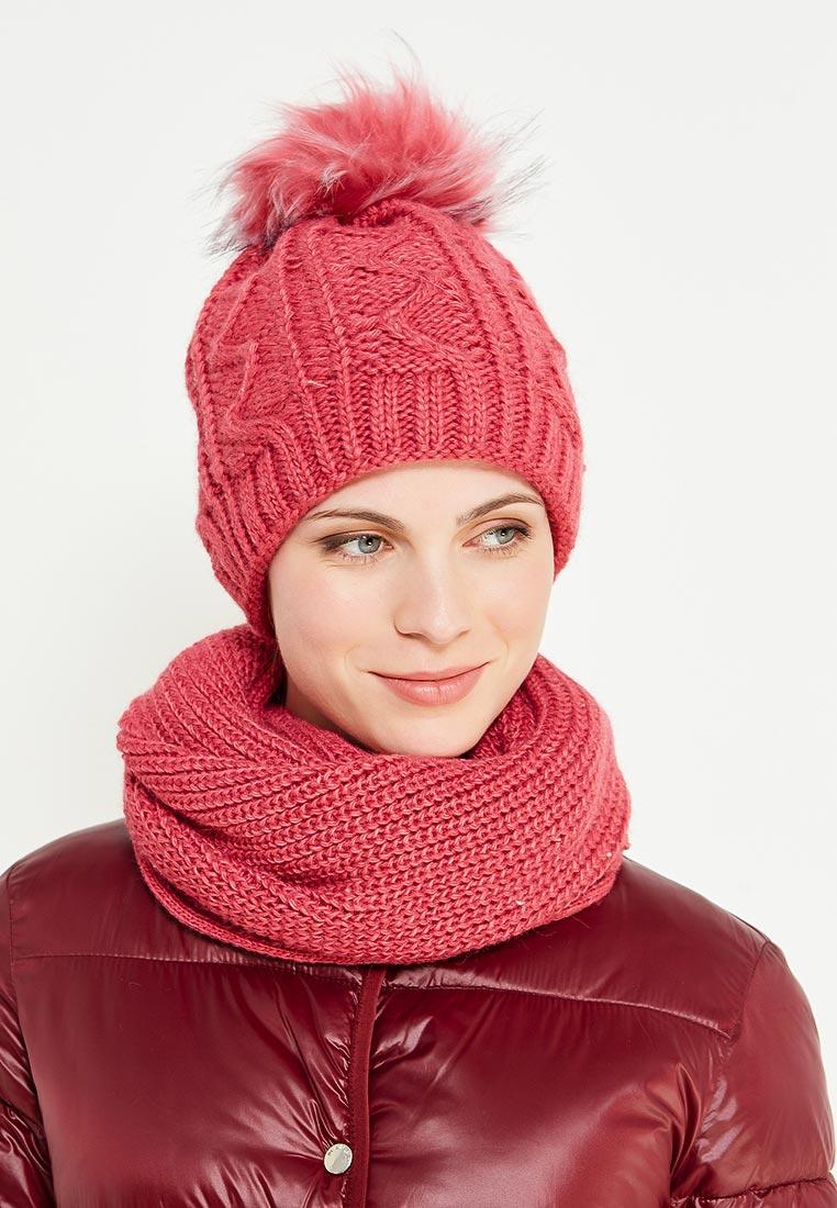 """Комплект шапка и снуд для женщин """"Розовая нежность"""""""