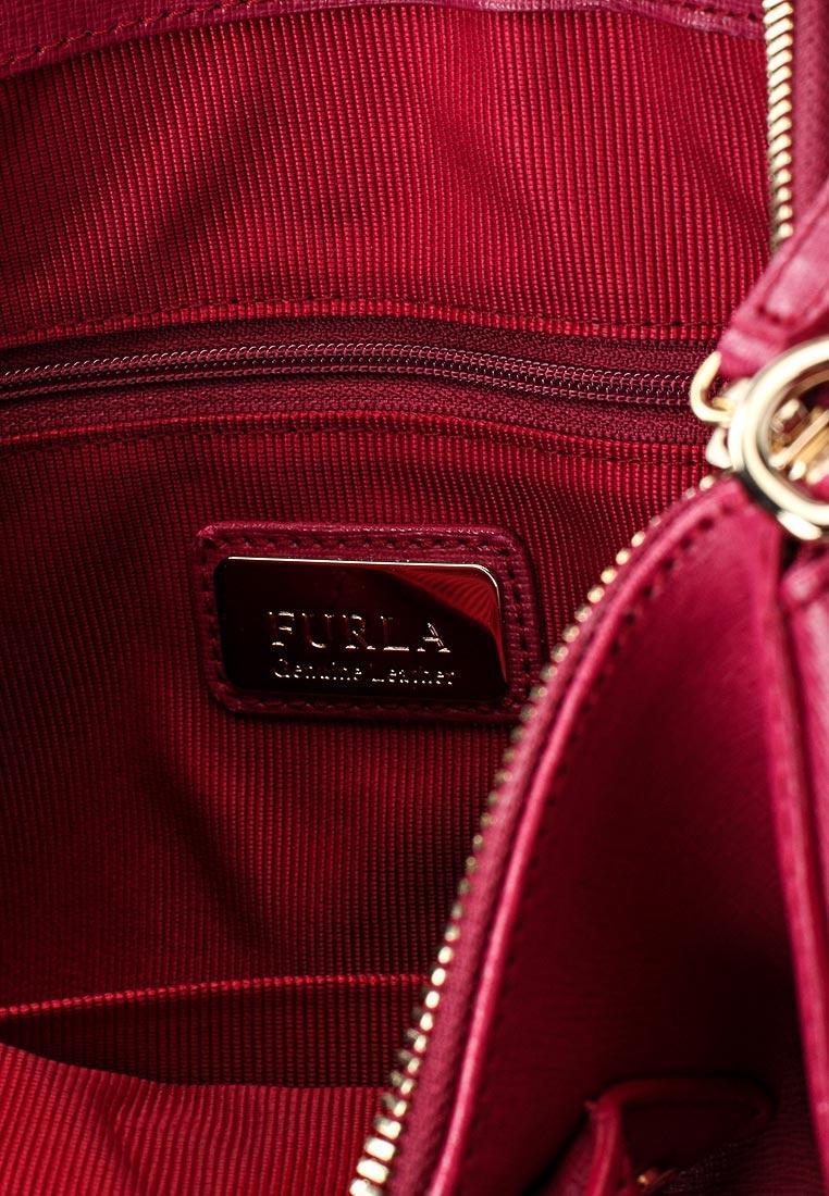 Фиолетовая кожаная сумка с короткими ручками Furla 903327