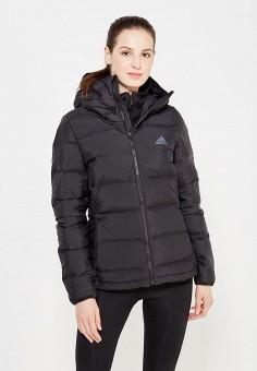 Пуховик, adidas Performance, цвет: черный. Артикул: AD094EWUOG62. Женская одежда / Верхняя одежда / Пуховики и зимние куртки