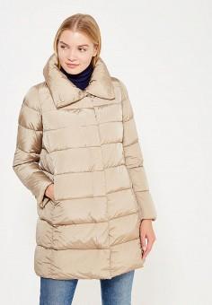 Пуховик, Add, цвет: бежевый. Артикул: AD504EWTCZ45. Женская одежда / Верхняя одежда / Пуховики и зимние куртки