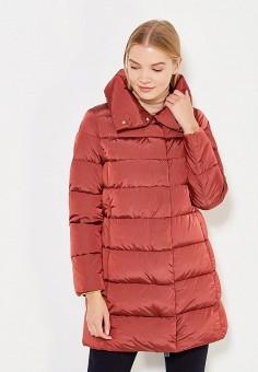 Пуховик, Add, цвет: бордовый. Артикул: AD504EWTCZ46. Женская одежда / Верхняя одежда / Пуховики и зимние куртки