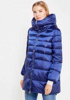 Пуховик, Add, цвет: синий. Артикул: AD504EWTCZ53. Женская одежда / Верхняя одежда / Пуховики и зимние куртки