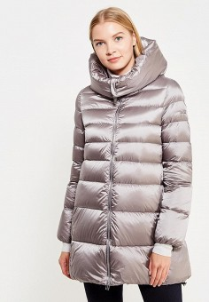 Пуховик, Add, цвет: серый. Артикул: AD504EWTCZ55. Премиум / Одежда / Верхняя одежда / Пуховики и зимние куртки