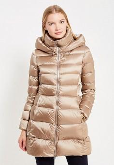 Пуховик, Add, цвет: бежевый. Артикул: AD504EWTCZ60. Женская одежда / Верхняя одежда / Пуховики и зимние куртки