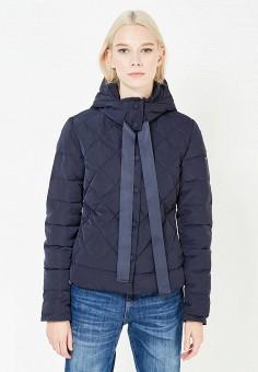 Пуховик, Armani Jeans, цвет: синий. Артикул: AR411EWTYA49. Премиум / Одежда / Верхняя одежда / Пуховики и зимние куртки