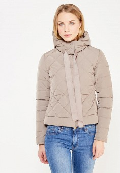 Пуховик, Armani Jeans, цвет: коричневый. Артикул: AR411EWTYA51. Премиум / Одежда / Верхняя одежда / Пуховики и зимние куртки