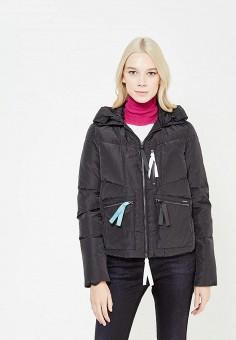Пуховик, Armani Jeans, цвет: черный. Артикул: AR411EWTYA53. Премиум / Одежда / Верхняя одежда / Пуховики и зимние куртки