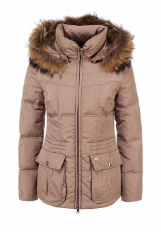 Пуховик, Baon, цвет: бежевый. Артикул: BA007EWFYE11. Женская одежда / Верхняя одежда / Пуховики и зимние куртки