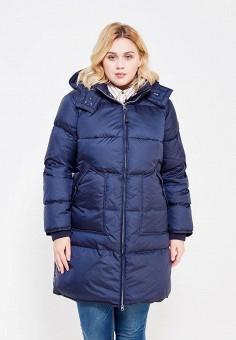 Пуховик, Baon, цвет: синий. Артикул: BA007EWWAM46. Женская одежда / Верхняя одежда / Пуховики и зимние куртки / Длинные пуховики и куртки