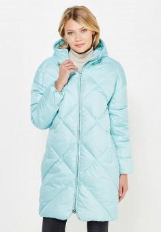 Пуховик, Baon, цвет: бирюзовый. Артикул: BA007EWWAQ28. Женская одежда / Верхняя одежда / Пуховики и зимние куртки
