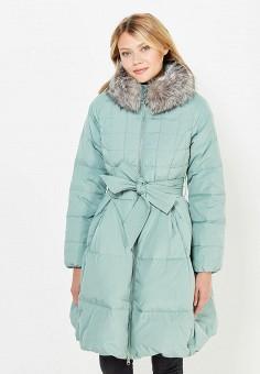 Пуховик, Baon, цвет: мятный. Артикул: BA007EWWAQ41. Женская одежда / Верхняя одежда / Пуховики и зимние куртки / Длинные пуховики и куртки