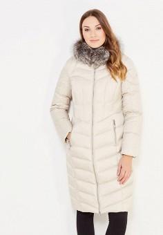 Пуховик, Baon, цвет: бежевый. Артикул: BA007EWWAQ75. Женская одежда / Верхняя одежда / Пуховики и зимние куртки / Длинные пуховики и куртки