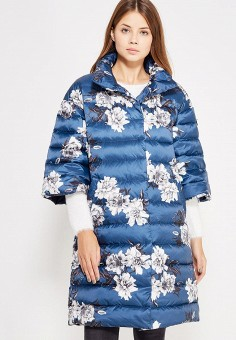 Пуховик, Baon, цвет: синий. Артикул: BA007EWWAR00. Женская одежда / Верхняя одежда / Пуховики и зимние куртки