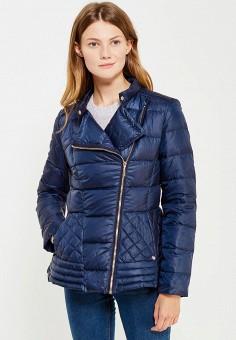 Пуховик, Baon, цвет: синий. Артикул: BA007EWWAR14. Женская одежда / Верхняя одежда / Пуховики и зимние куртки