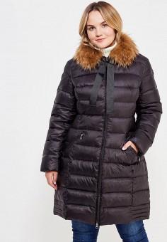 Пуховик, Baon, цвет: черный. Артикул: BA007EWXUP88. Женская одежда / Верхняя одежда / Пуховики и зимние куртки
