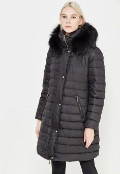 Пуховик, Baldinini, цвет: черный. Артикул: BA097EWXRV31. Женская одежда / Верхняя одежда / Пуховики и зимние куртки / Длинные пуховики и куртки