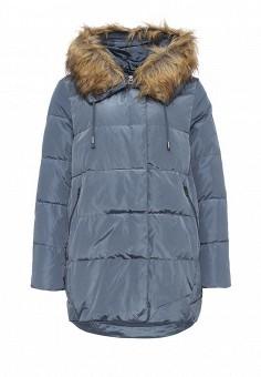 Пуховик, Befree, цвет: голубой. Артикул: BE031EWNDN69. Женская одежда / Верхняя одежда / Пуховики и зимние куртки