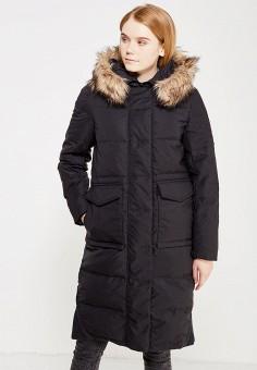 Пуховик, Befree, цвет: черный. Артикул: BE031EWYME10. Женская одежда / Верхняя одежда / Пуховики и зимние куртки / Длинные пуховики и куртки
