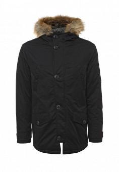 Куртка утепленная, Burton Menswear London, цвет: черный. Артикул: BU014EMWSM67. Мужская одежда / Верхняя одежда / Пуховики и зимние куртки