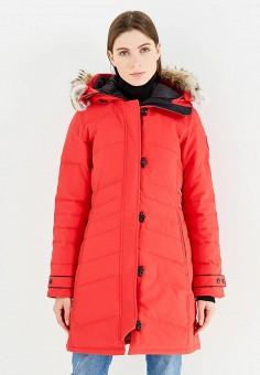 Пуховик, Canada Goose, цвет: красный. Артикул: CA997EWVBM59. Премиум / Одежда / Верхняя одежда / Пуховики и зимние куртки