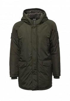 Парка, EA7, цвет: хаки. Артикул: EA002EMUEE69. Мужская одежда / Верхняя одежда / Пуховики и зимние куртки