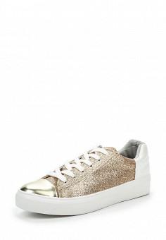Кеды, Fashion & Bella, цвет: золотой. Артикул: FA034AWSAE82. Женская обувь / Кроссовки и кеды