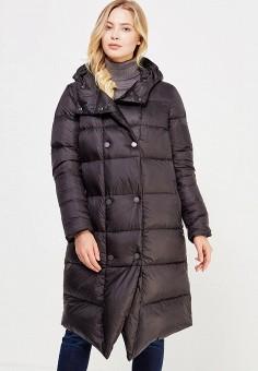 Пуховик, Finn Flare, цвет: черный. Артикул: FI001EWUZV25. Женская одежда / Верхняя одежда / Пуховики и зимние куртки