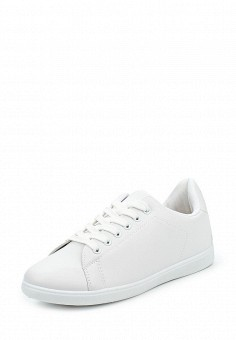 Кеды, Ideal Shoes, цвет: белый. Артикул: ID005AWPVB77. Женская обувь / Кроссовки и кеды
