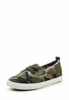 Кеды, Ideal Shoes, цвет: хаки. Артикул: ID005AWRWQ45. Женская обувь / Кроссовки и кеды