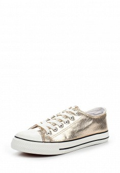 Кеды, Ideal Shoes, цвет: золотой. Артикул: ID005AWRWQ59. Женская обувь / Кроссовки и кеды