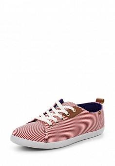 Кеды, Ideal Shoes, цвет: красный. Артикул: ID005AWSBF36. Женская обувь / Кроссовки и кеды