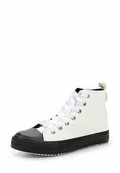 Кеды, Ideal Shoes, цвет: черно-белый. Артикул: ID007AWWEH05. Женская обувь / Кроссовки и кеды