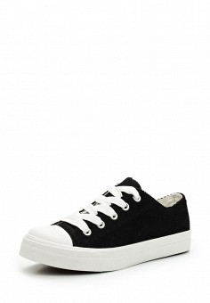 Кеды, Ideal Shoes, цвет: черно-белый. Артикул: ID007AWWEH09. Женская обувь / Кроссовки и кеды