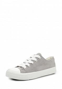 Кеды, Ideal Shoes, цвет: серый. Артикул: ID007AWWEI72. Женская обувь / Кроссовки и кеды