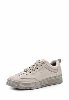 Кеды, Ideal Shoes, цвет: серый. Артикул: ID007AWWEI75. Женская обувь / Кроссовки и кеды