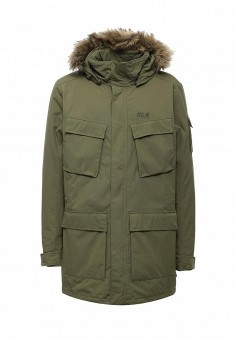Куртка утепленная, Jack Wolfskin, цвет: хаки. Артикул: JA021EMWHY55. Мужская одежда / Верхняя одежда / Парки
