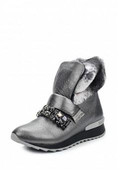Полусапоги, Just Couture, цвет: серебряный. Артикул: JU663AWTHG38. Женская обувь / Сапоги