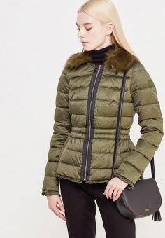 Пуховик, Liu Jo, цвет: зеленый. Артикул: LI687EWUDM79. Премиум / Одежда / Верхняя одежда / Пуховики и зимние куртки