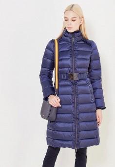 Пуховик, Liu Jo, цвет: синий. Артикул: LI687EWUDM81. Премиум / Одежда / Верхняя одежда / Пуховики и зимние куртки