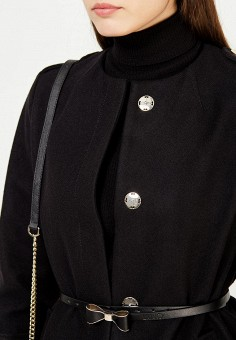 Пальто, Liu Jo, цвет: черный. Артикул: LI687EWUDM99. Премиум / Одежда / Верхняя одежда