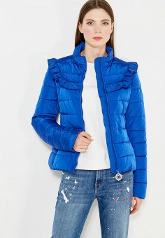 Куртка утепленная, Love Moschino, цвет: синий. Артикул: LO416EWUKW45. Премиум / Одежда / Верхняя одежда